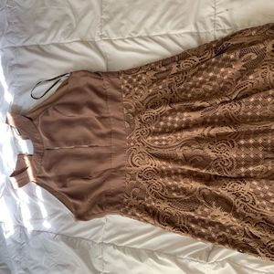 Tan Summer Dress.
